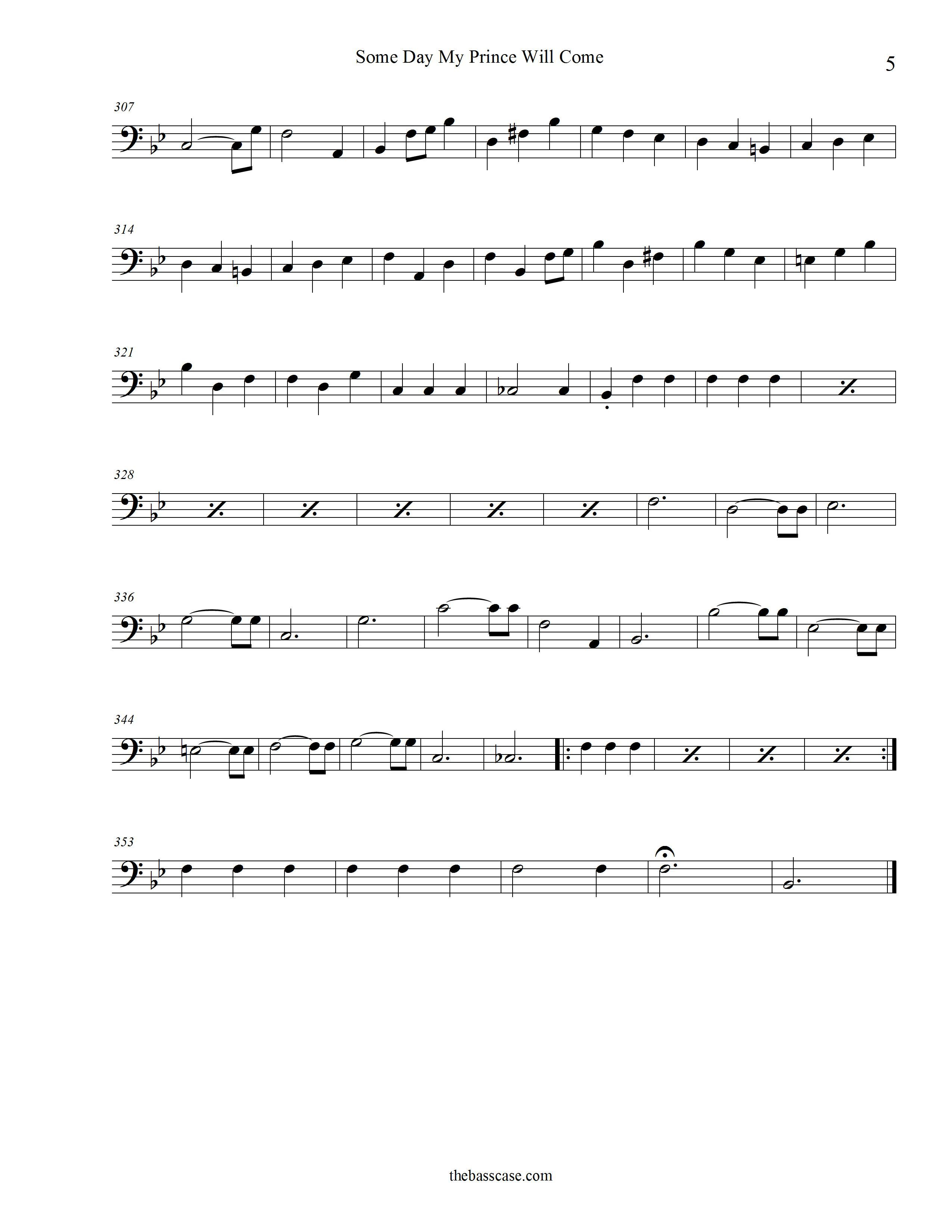 Beginning Bass Clef Songs