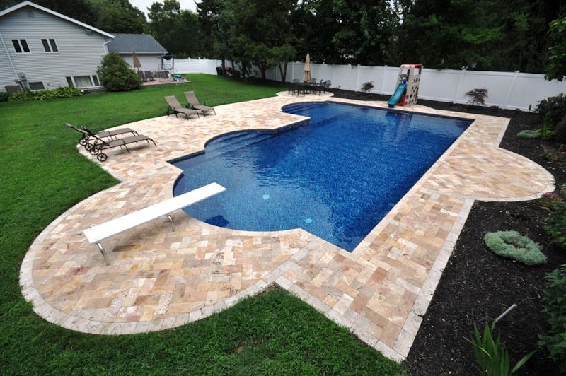 Glittering Coping Stones For Swimming Pool With White Vinyl Privacy Fence Panels Also U Frame
