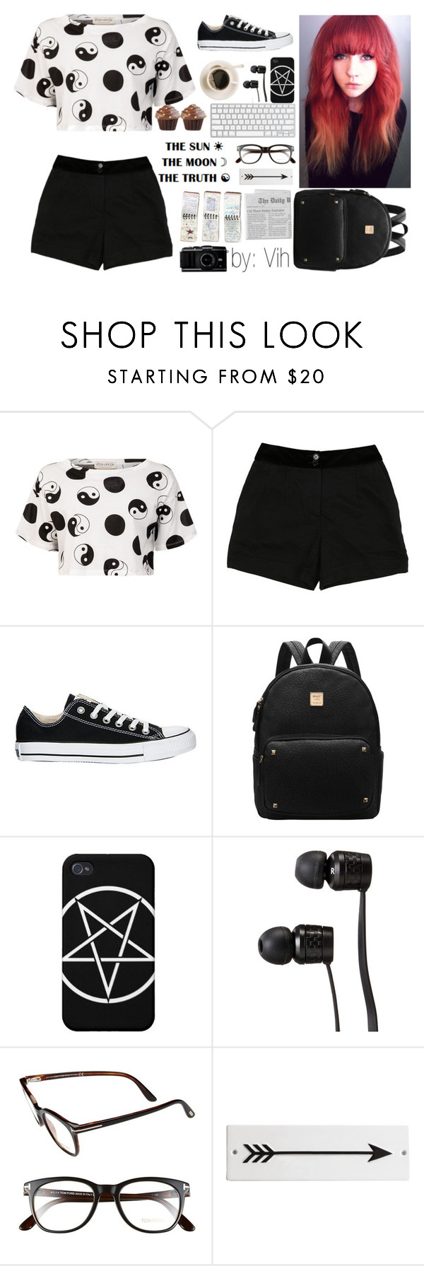 """""""the truth"""" by unicorniocg ❤ liked on Polyvore featuring Être Cécile, D&G, Converse, Vans, Tom Ford, Rosanna and GUESS"""