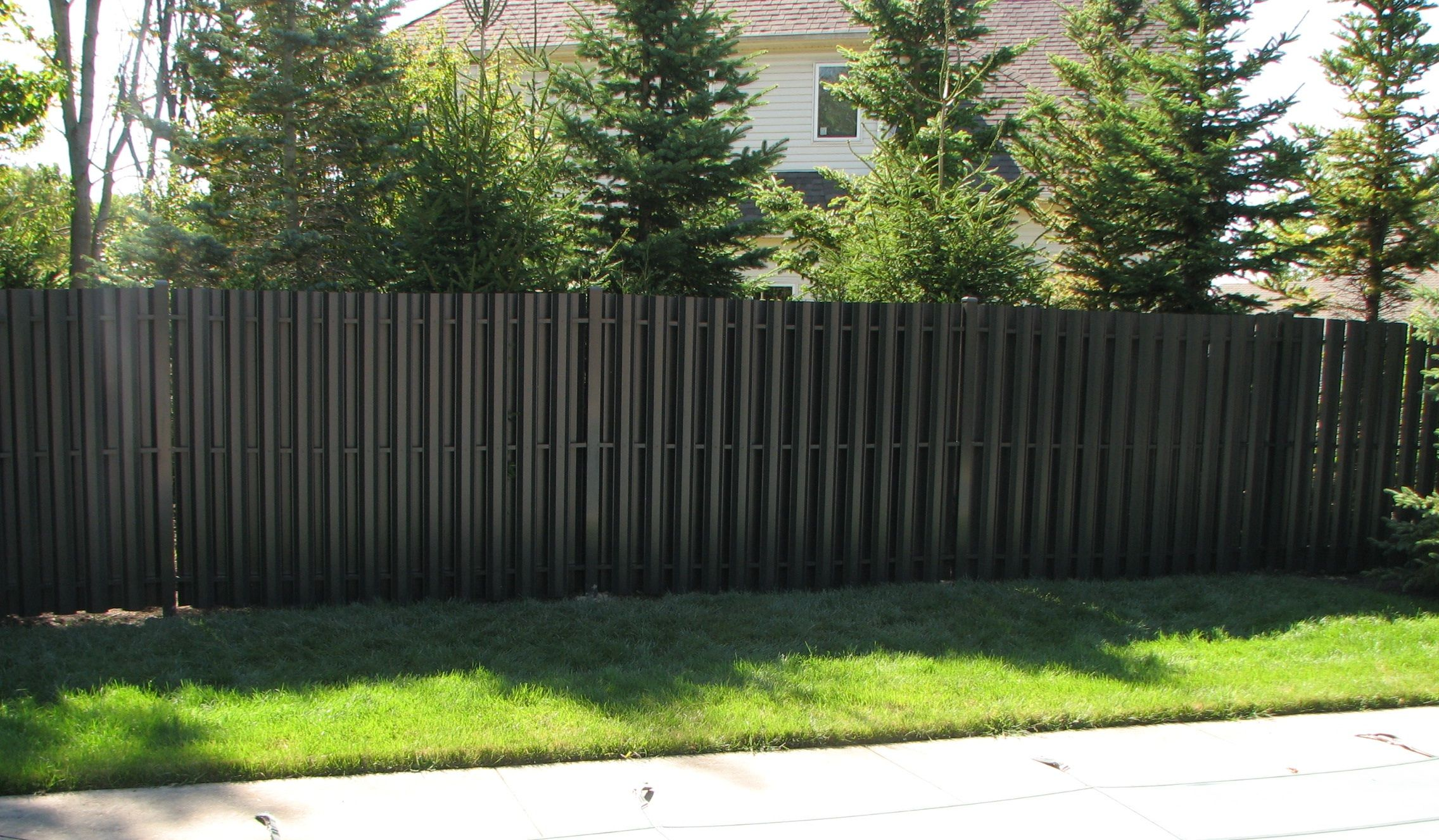 Fence Panels Residential Solid Panel Aluminum Privacy