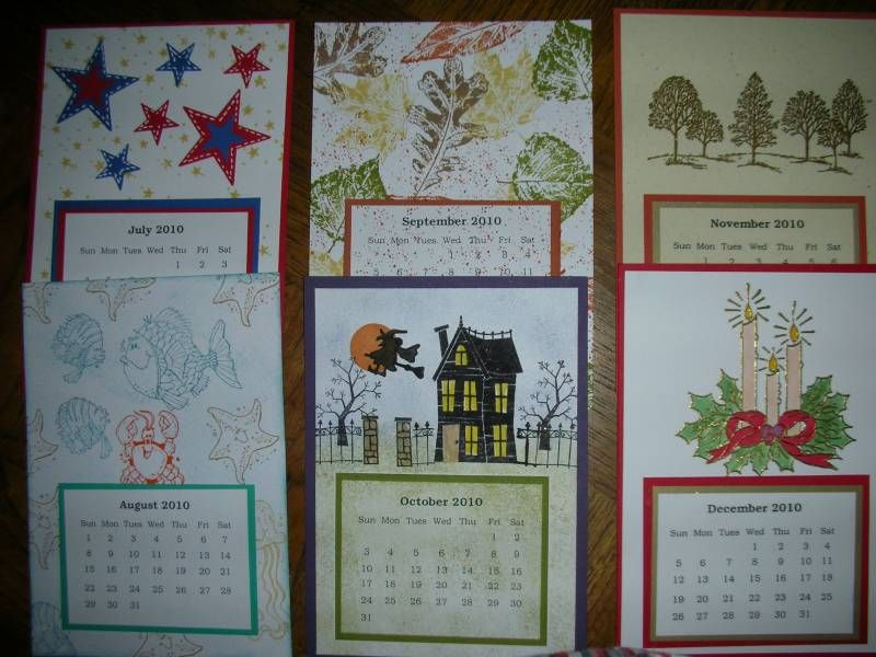 2009 Calendars By Shestampz Cards And Paper Crafts At
