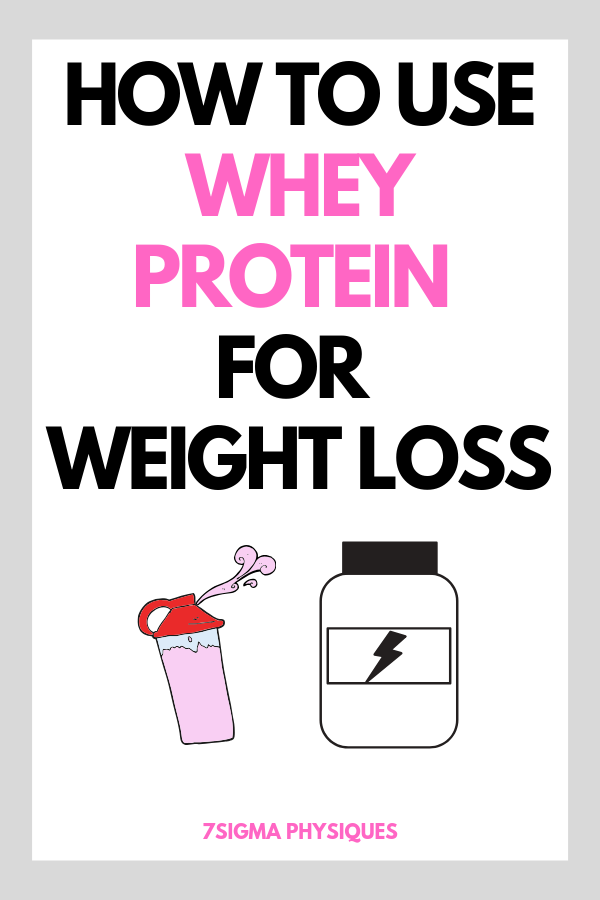 How to Use Whey Protein for Weight Loss - 7Sigma Physiques