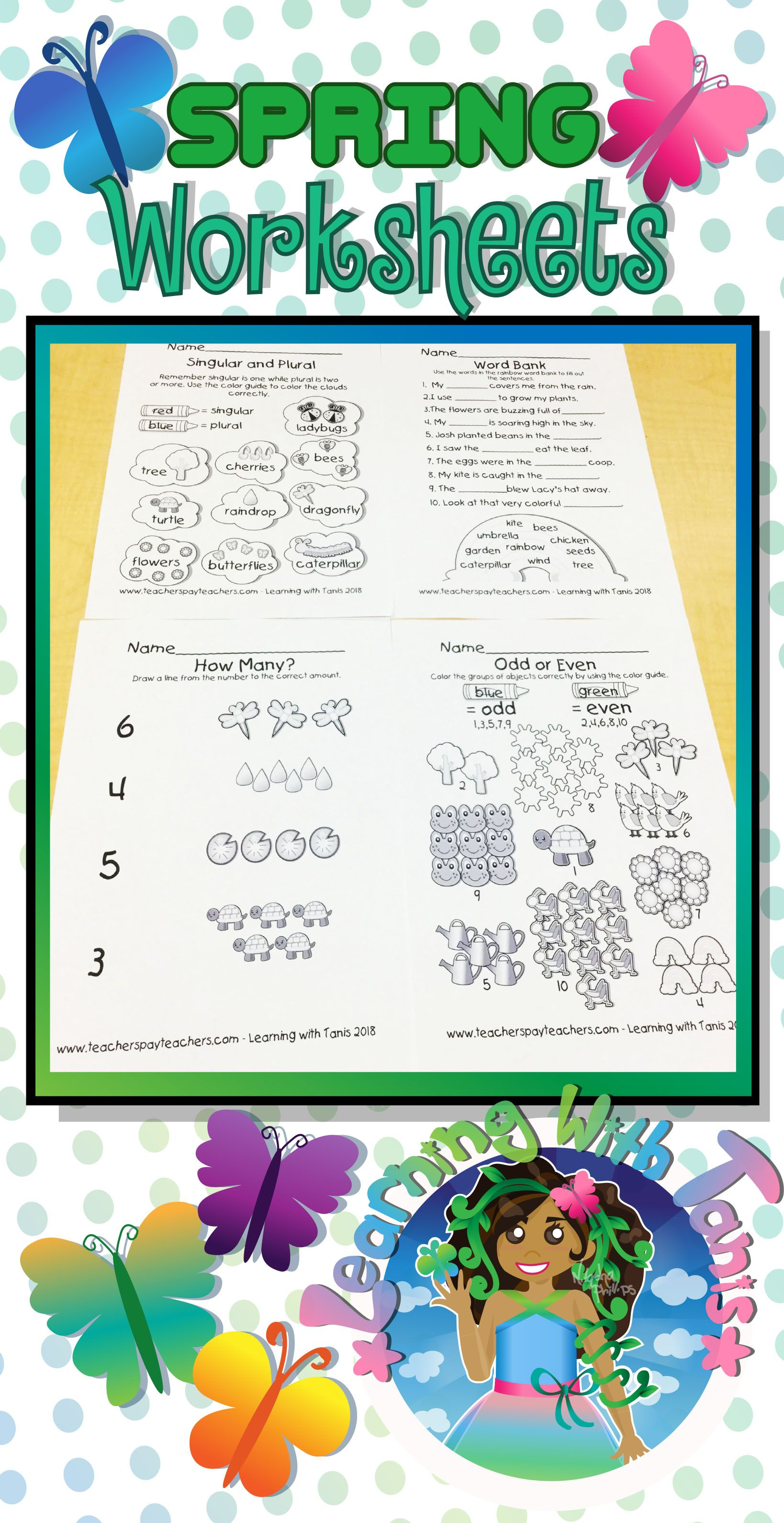 Spring Worksheet Bundle