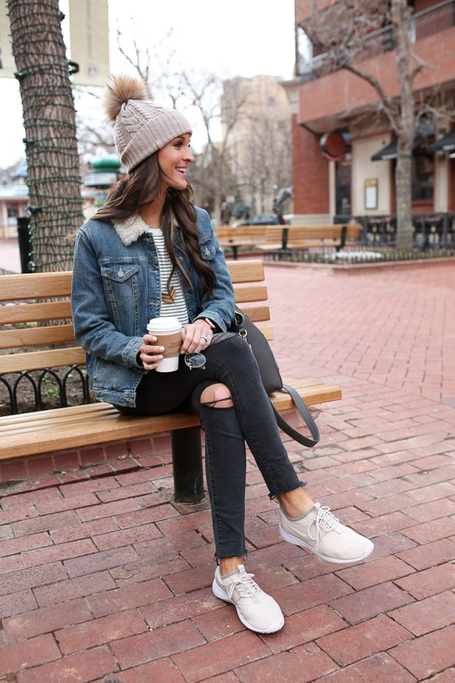 Sneaker girl all day everyday | Boulder colorado Winter fashion and Denim jackets