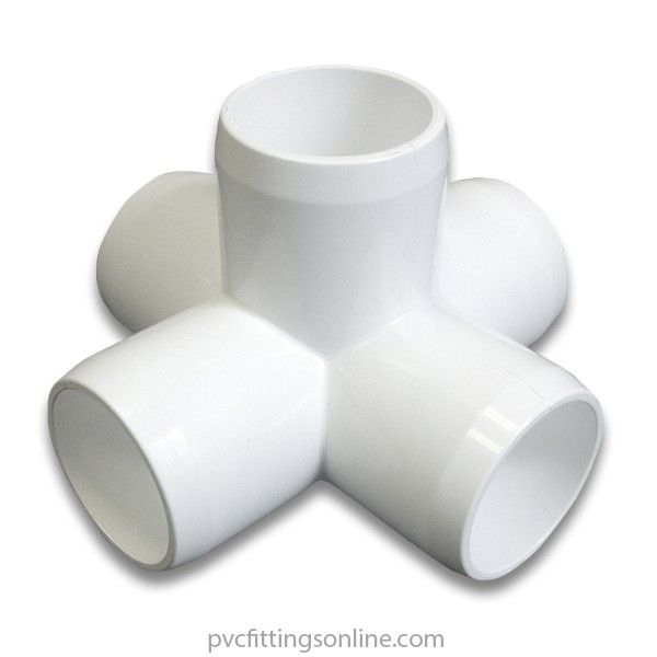 1 1 2 5 Way Pvc Furniture Fitting Side Outlet Cross In 2020 Pvc Fittings Pvc Furniture Pvc