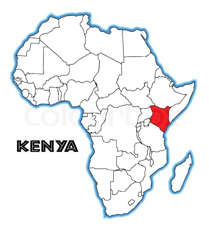 africa map with kenya