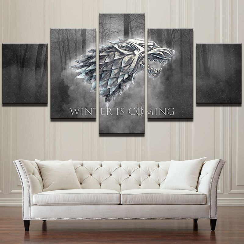 5 Panels 5 Panels Game Of Thrones Canvas Art Framed Poster Print Canvas Art Multi Piece Canvas Art Wall Decor Game Of Thrones Canvas Wall Canvas