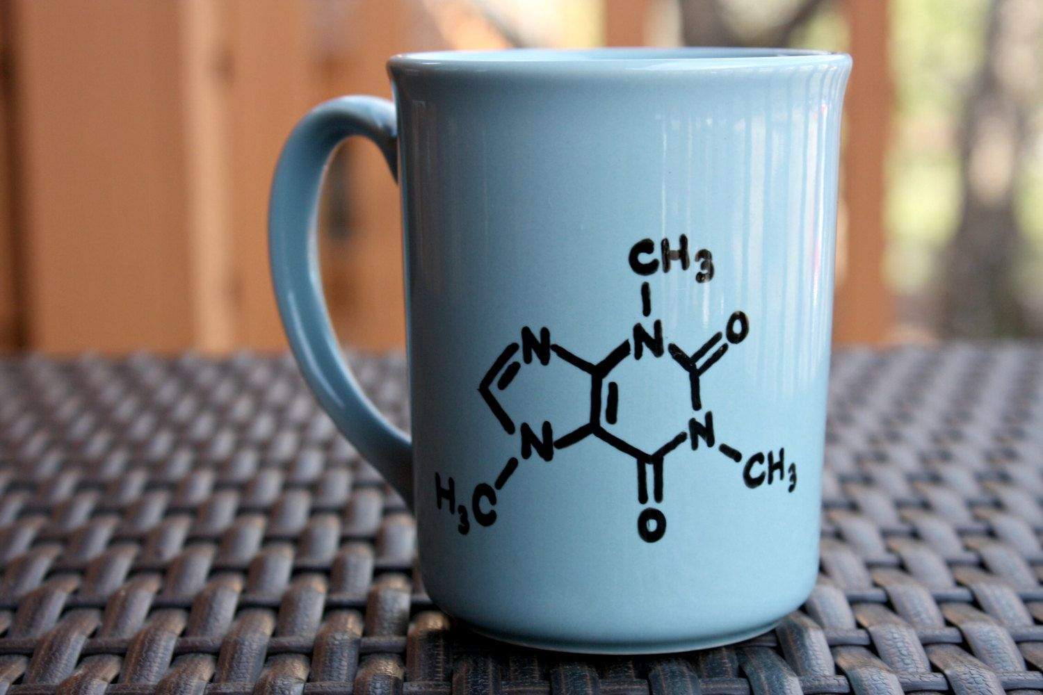 cute coffee mugs idea for a coffee mug draw out a caffeine molecule 30076