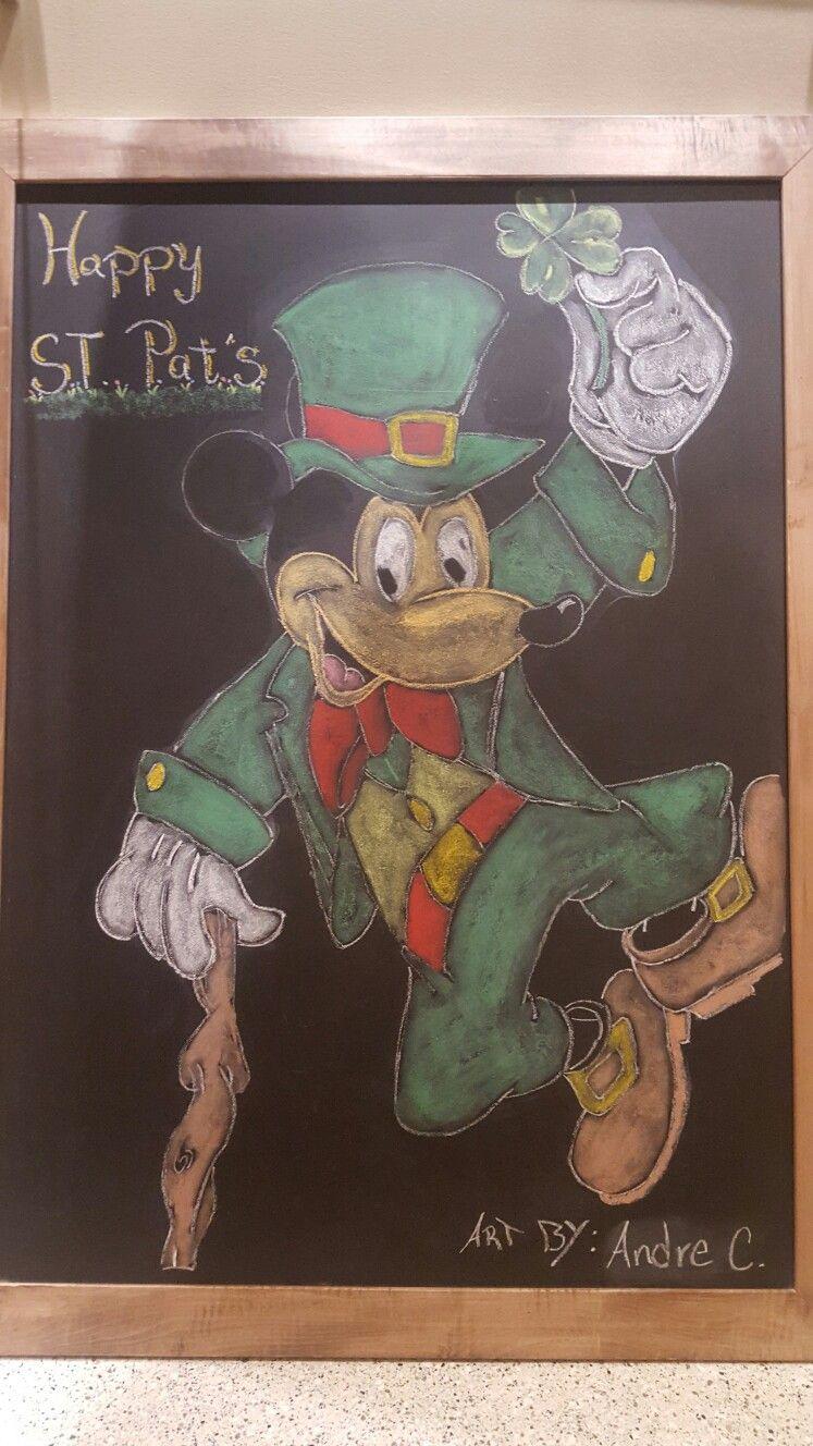 Chalk art of ST. Mickey lol!