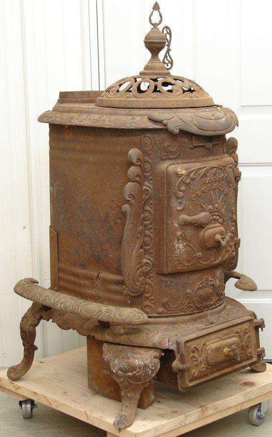 Details About Antique Gem City Prince Oak Wood Parlor