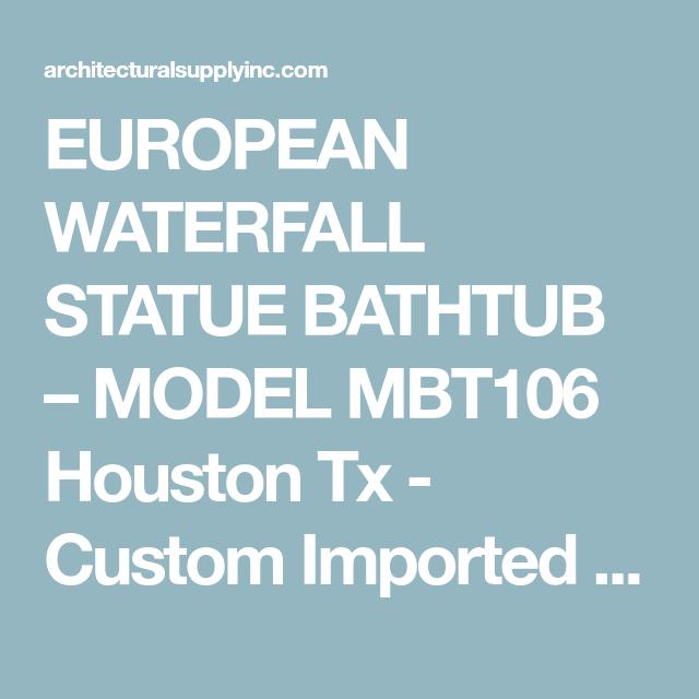 European waterfall statue bathtub – model mbt106   Marble bathtub ...