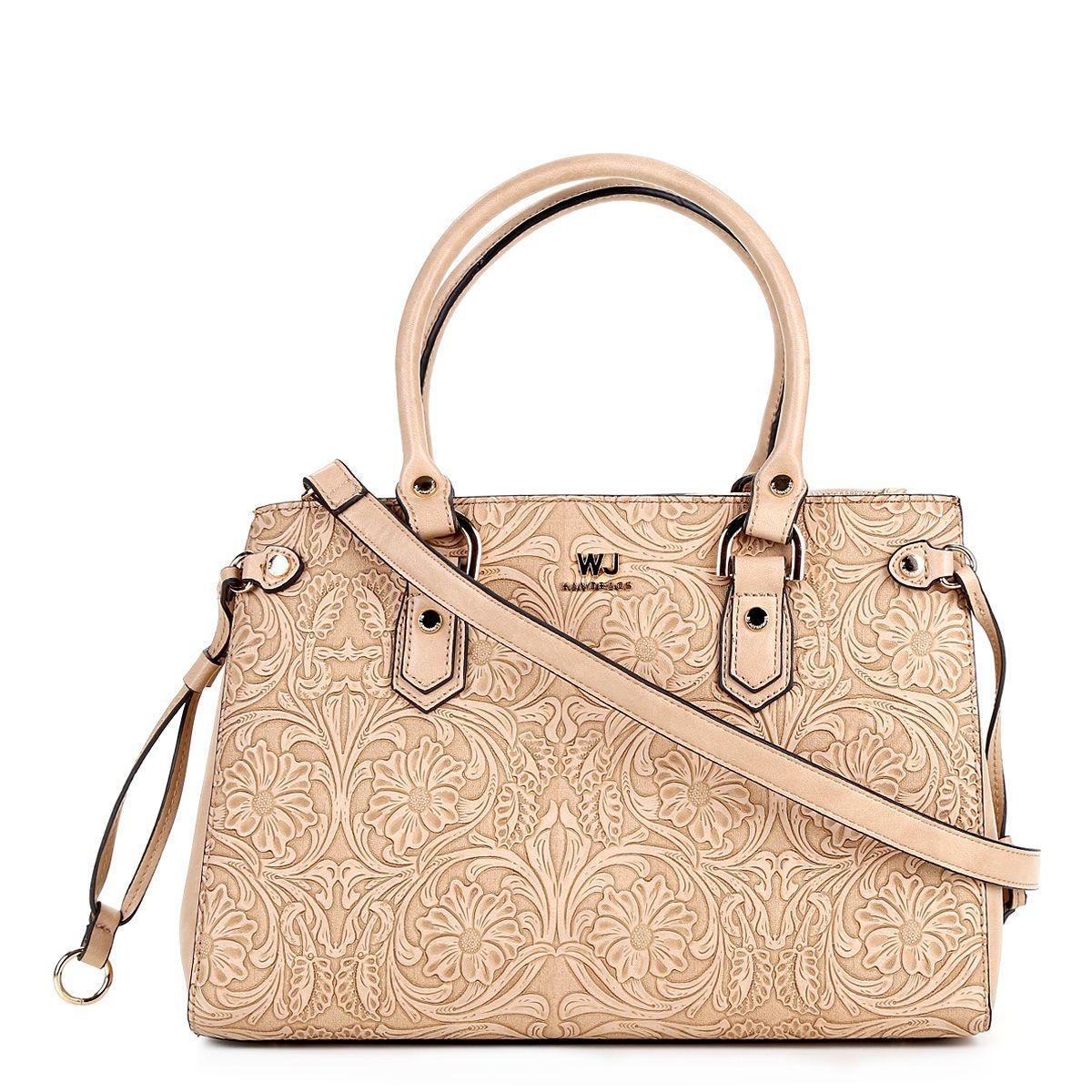 c7ed6b70f Bolsa WJ Shopper Satchel Feminina - Bege - Compre Agora | Zattini ...