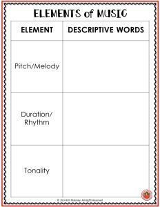 Elements of Music Graffiti borad lesson outline and worksheets   #musiceducation   #musiced   #elmused