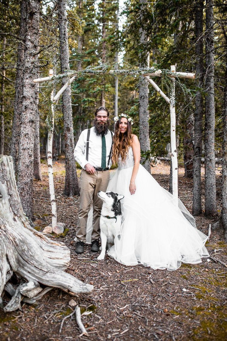 Mountain rustic chic bridal inspiration in big wedding
