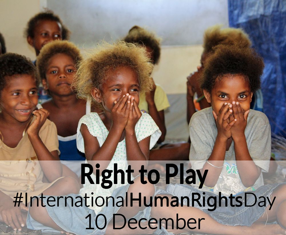 Every child has a right to play and to protection these
