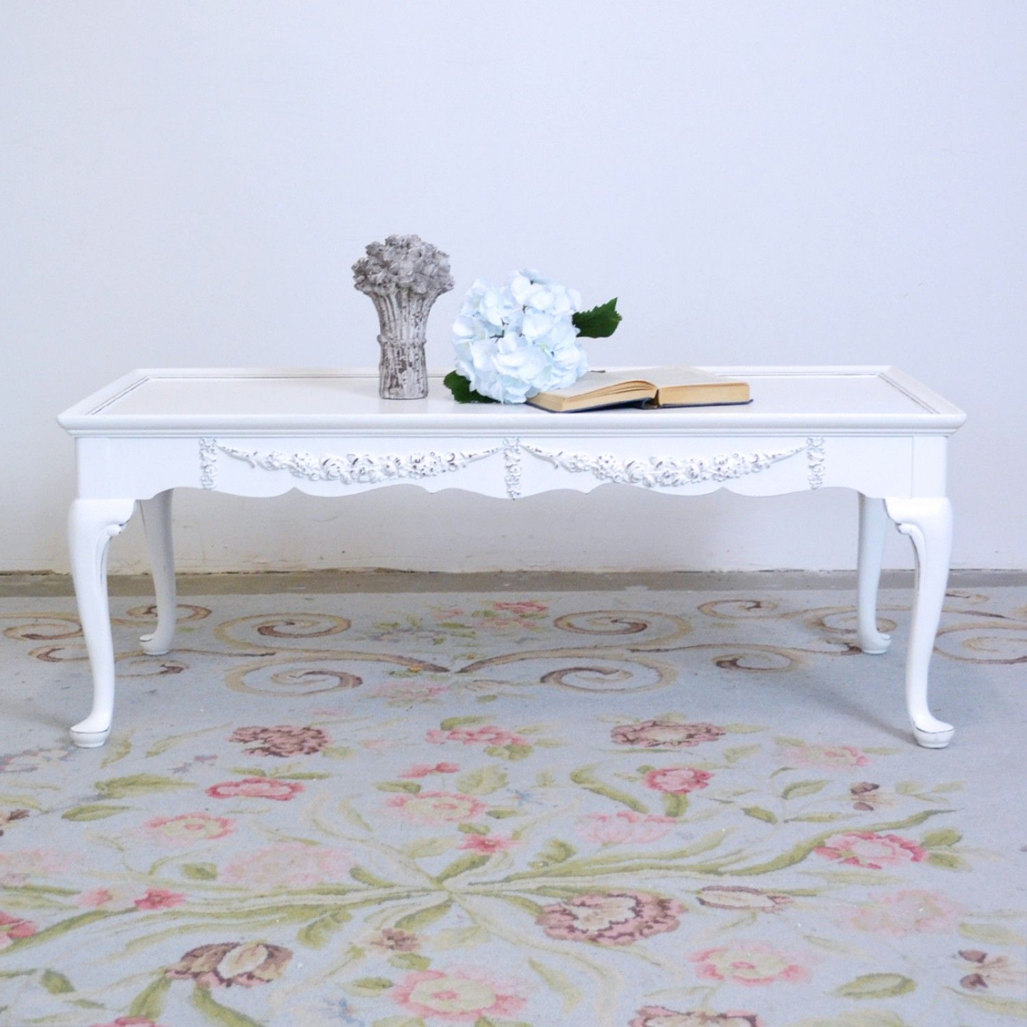 White Long Coffee Table