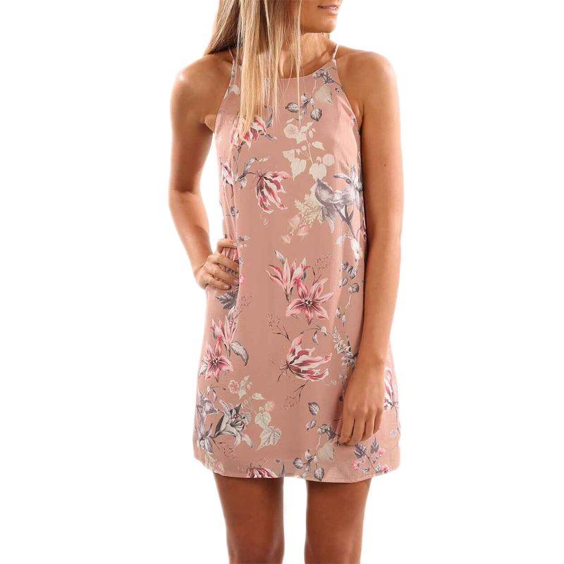 >> Click to Buy << Women Floral Print Mini Dress 2017 Summer Bohemia Sleeveless Spaghetti Strap Beach Dress Causal Short Dress Vestidos Sundress #Affiliate