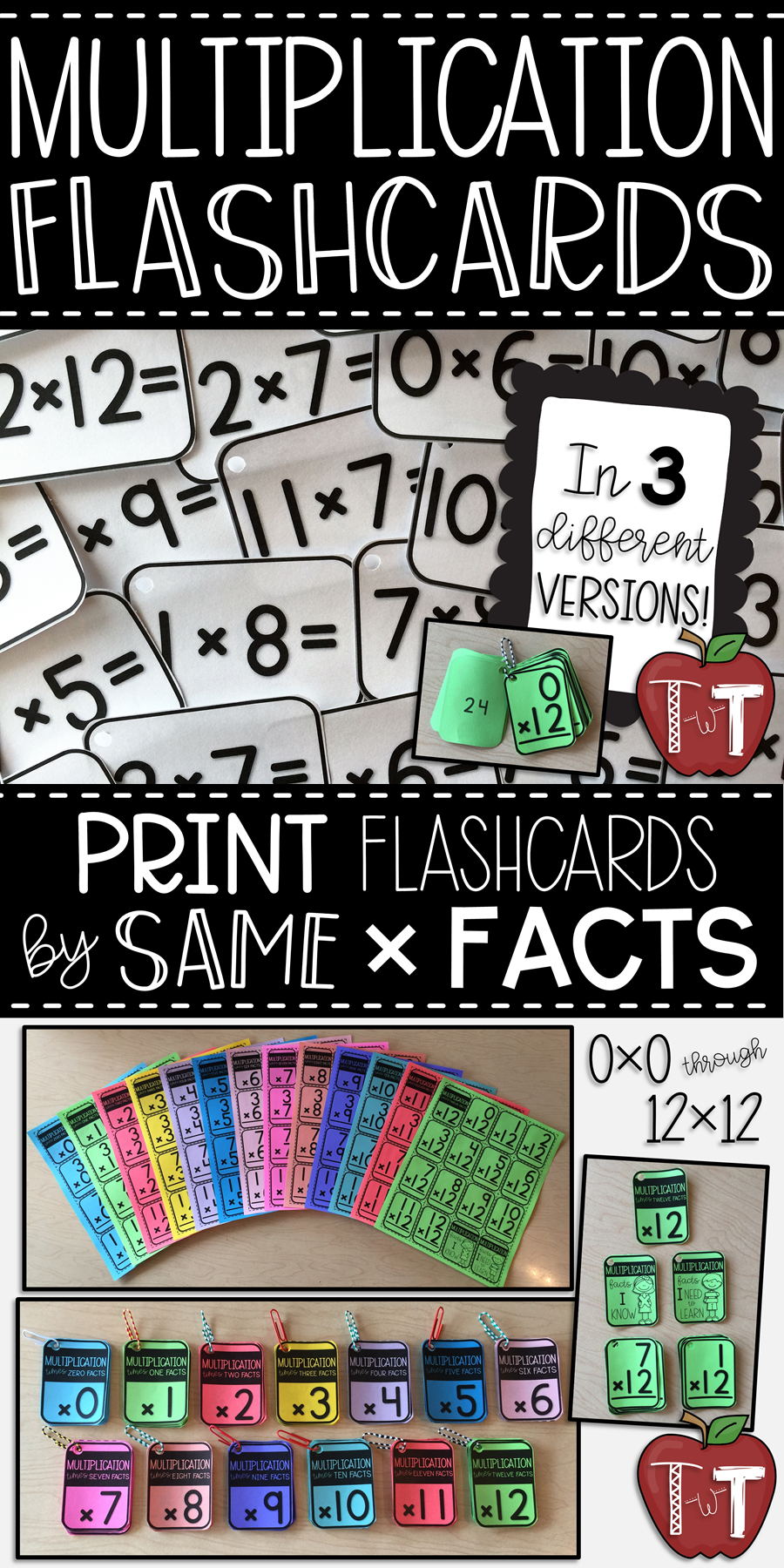 photo regarding Printable Multiplication Flashcards With Answers on Back named Multiplication Flash Playing cards Printable Flashcards with