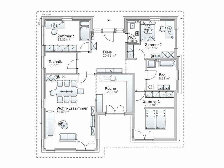 Bungalow Grundriss 150 Qm Schön 522 Besten Haus Bilder Auf
