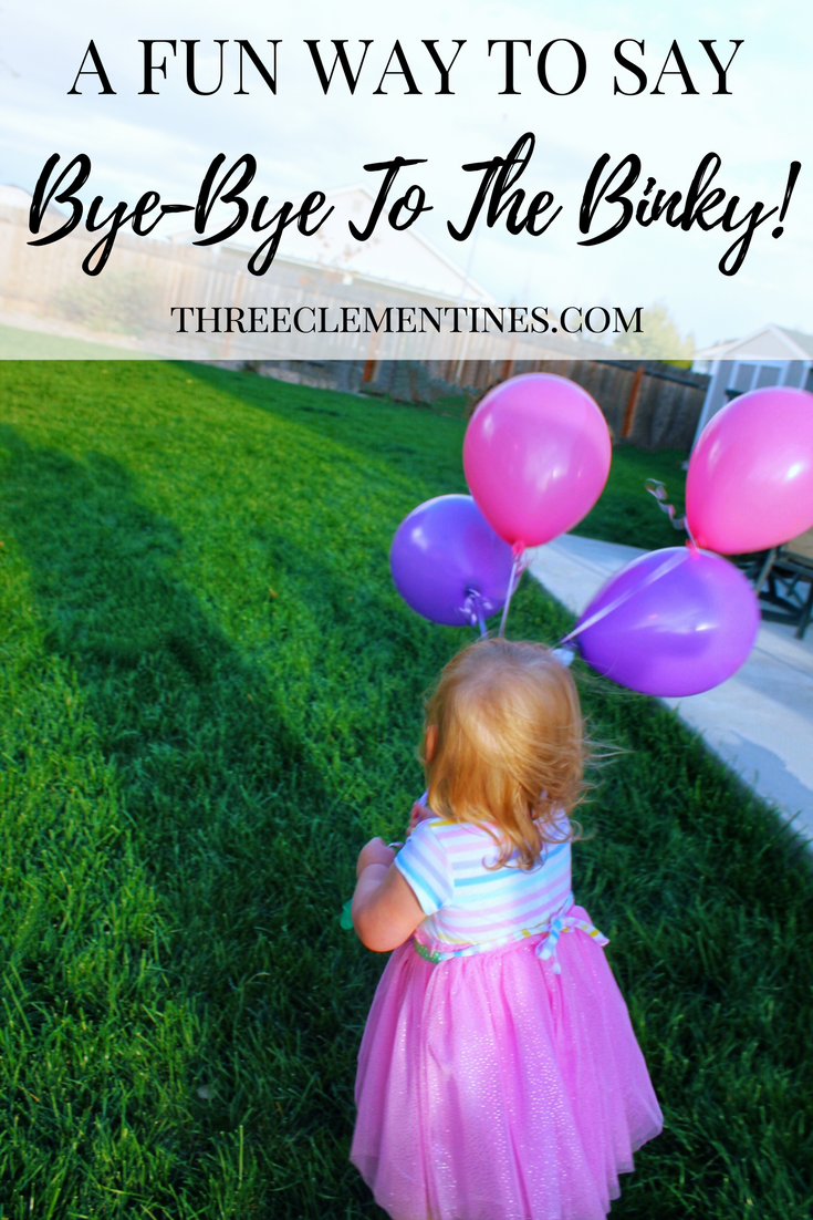 A fun way to say goodbye to the binky for good! #pacifier #binky #parenting #babies #toddlers #milestones