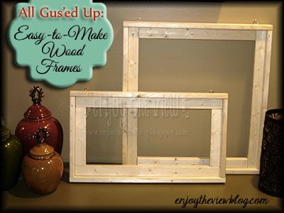 Make Your Own Custom Wood Frames (A great way to frame kids\' artwork ...
