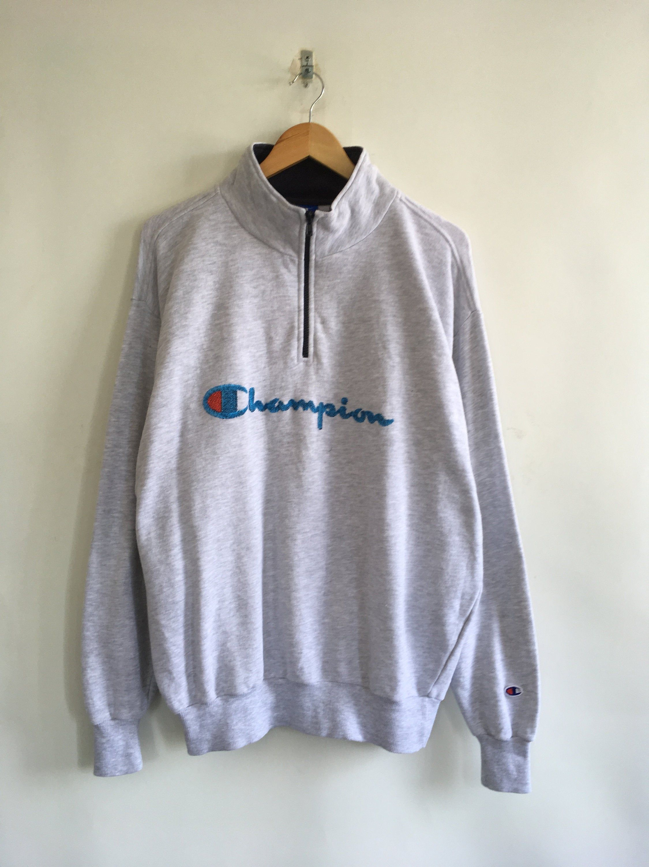 Champion Half Zipper Sweater Xlarge Vintage 90 S Champion Etsy Zippered Sweater Champion Pullover Sweaters [ 3000 x 2250 Pixel ]