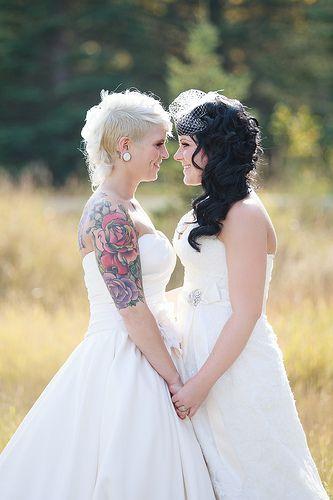 Morgan Nicole S Dreamy Mountain Wedding Lesbian Wedding Bride