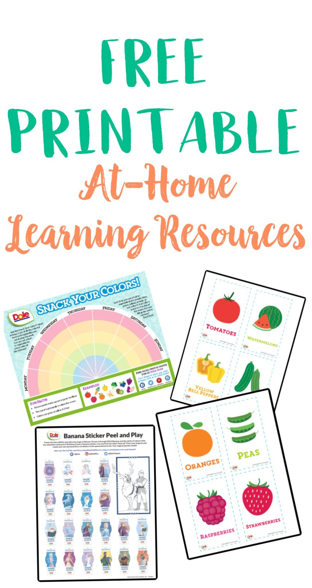 Dole S Free At Home Printable Learning Resources