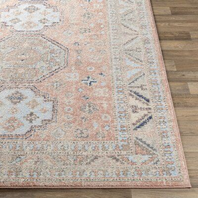Bilaal Oriental Orange/Taupe Area Rug