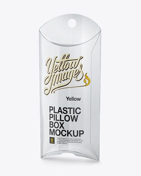 Plastic Pillow Box Mockup (Preview)