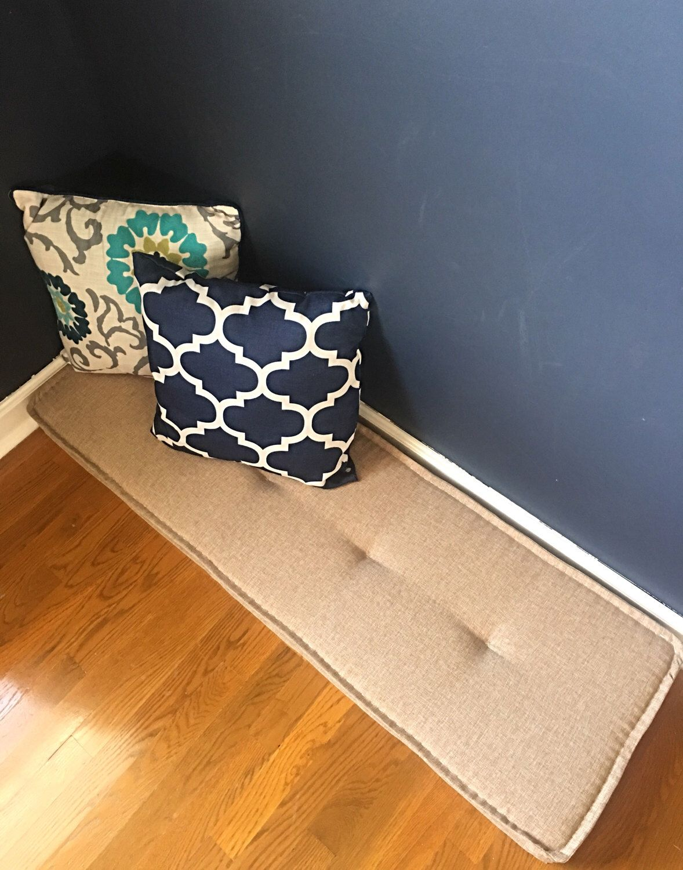 Farmhouse cushions Custom Bench cushions Window seat