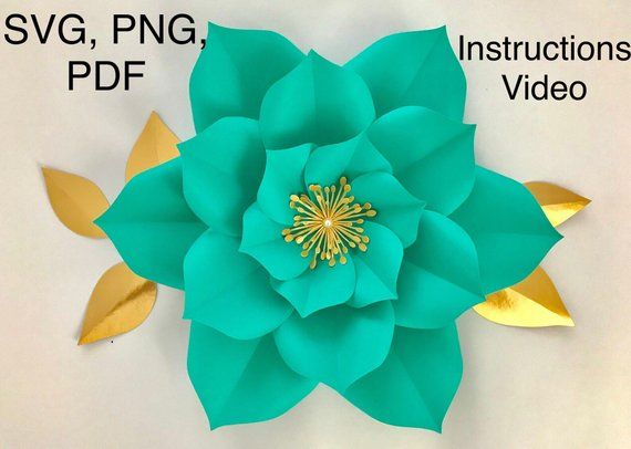 Large Paper Flower Template Giant Flower Template Flower Template