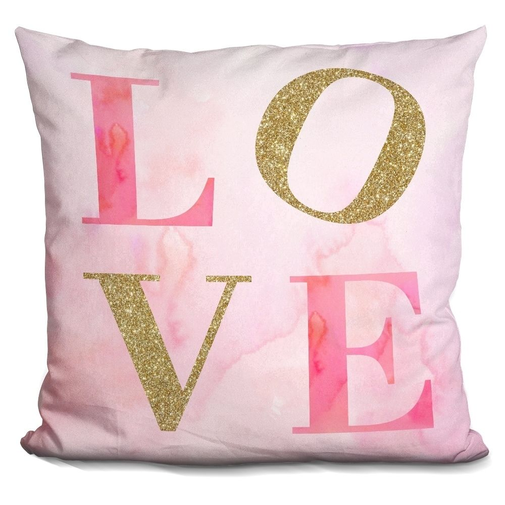 LiLiPi Design for Love Decorative Accent Throw Pillow