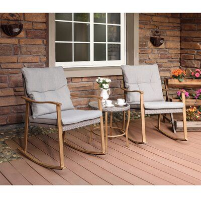 Patio Rocking Chairs Furniture, Outdoor Patio Furniture With Rocking Chairs