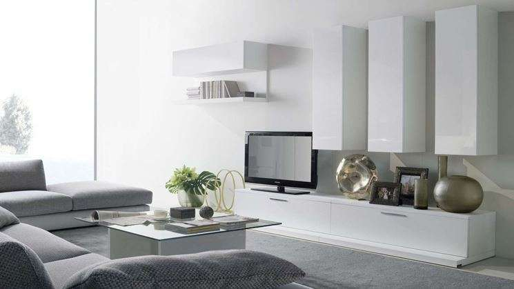 Salotto Moderno Grigio : Come arredare il soggiorno con il grigio arredamento living