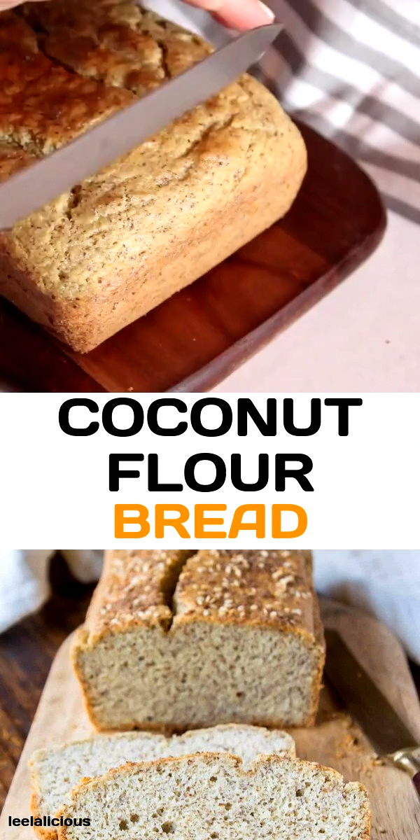 A warm slice of fresh homemade bread doesn't have to be full of gluten and carbs. This paleo and gluten-free Coconut Flour Bread proves it.  #breakfast #paleo #glutenfree #coconutflour #flax #videos #recipe #healthy #keto #lowcarb #best #sandwich #loaf #LowCarbBiscuitRecipe