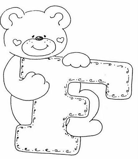 letras para decorar bordado colorear abecedario infantil moldes patrones preescolar letras infantiles dibujos infantiles