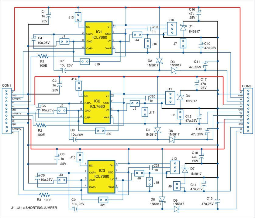 Configurable DCtoDC Converter Module Using Three ICs