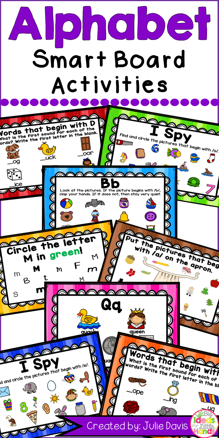 Alphabet Smart Board Activities Letters And Sounds My Tpt Products