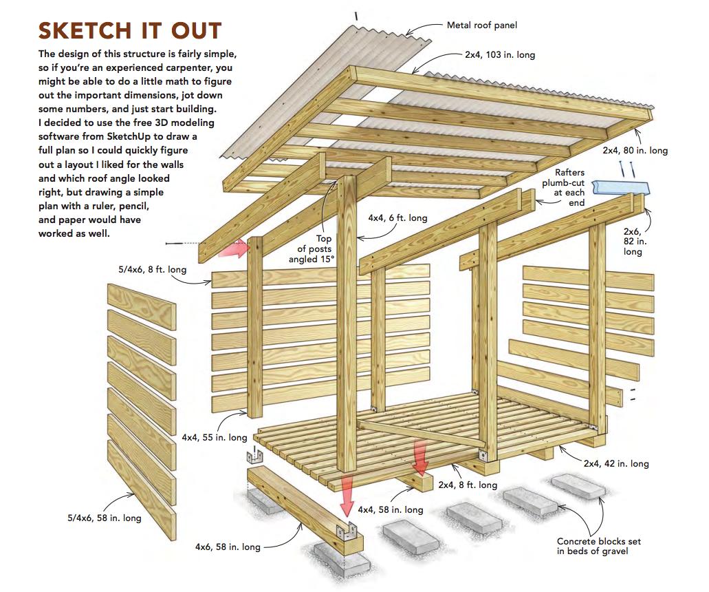 Build a Modular Modern Woodshed - Fine Homebuilding