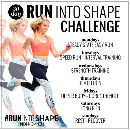 the 30day run into shape challenge  30 day running