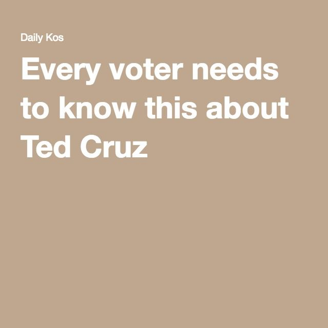 Every voter needs to know this about Ted Cruz - he lacks compassion. Isn't really doing Christian virtues (what else is new - but still, saving)