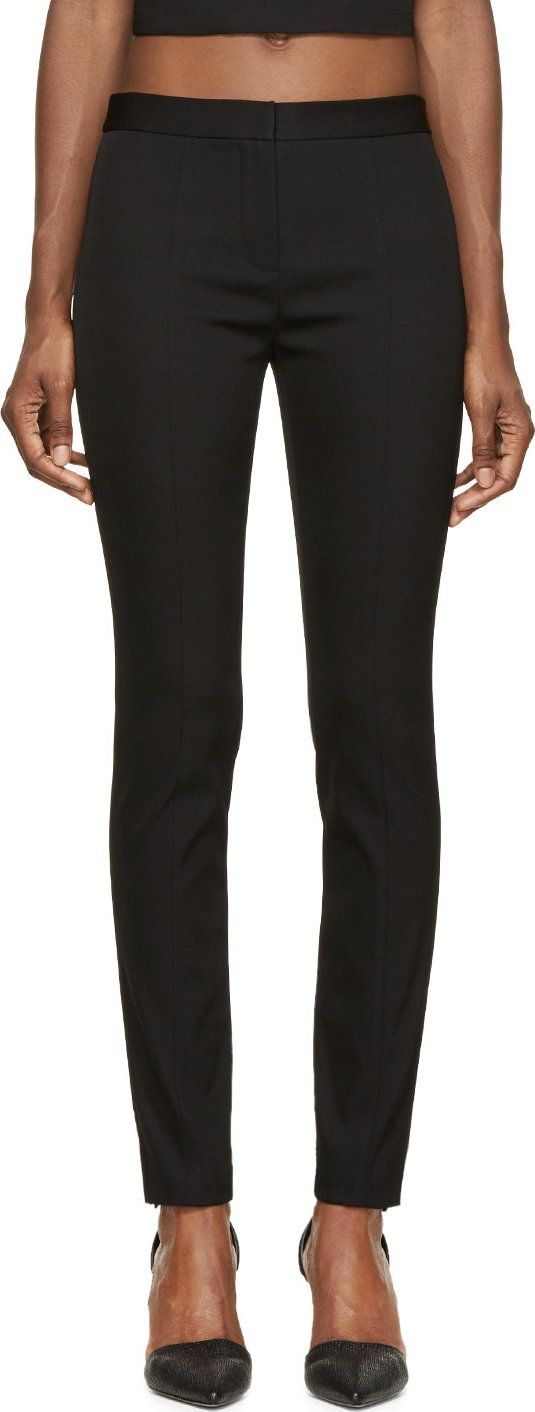 Alexander Wang - Black Bondage Tailoring Fitted Pencil Trousers