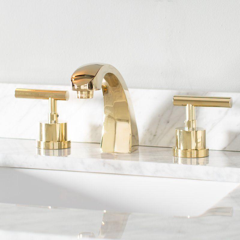 Manhattan Widespread Bathroom Faucet With Brass Pop Up Bathroom Faucets Widespread Bathroom Faucet Sink Faucets Polished brass bathroom faucets widespread