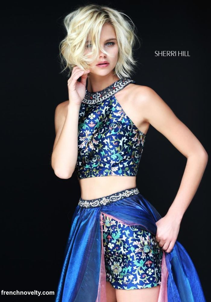 526c8cb1272b Sherri Hill 51181 Floral Print 2pc Gown with Shorts