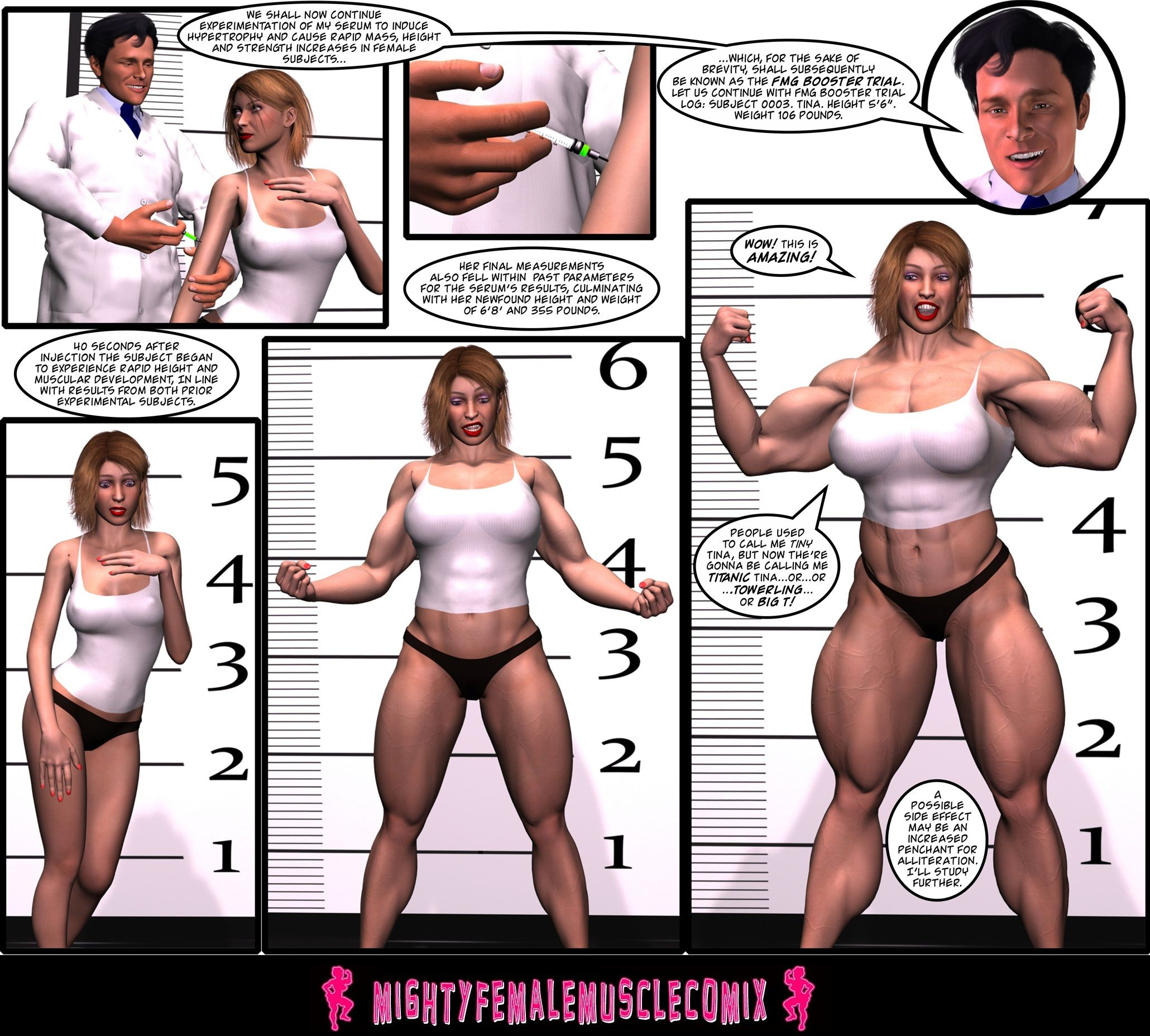 Muscle growth sexy Meg's Muscle