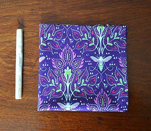 """Cotton Pocket Scarf or Hankie - One of a Kind 11.5"""" Square - Art…"""