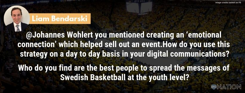 Johannes Wohlert On Building An Emotional Connection With Swedish Basketball Fans Emotional Connection Emotions Youth Coaching
