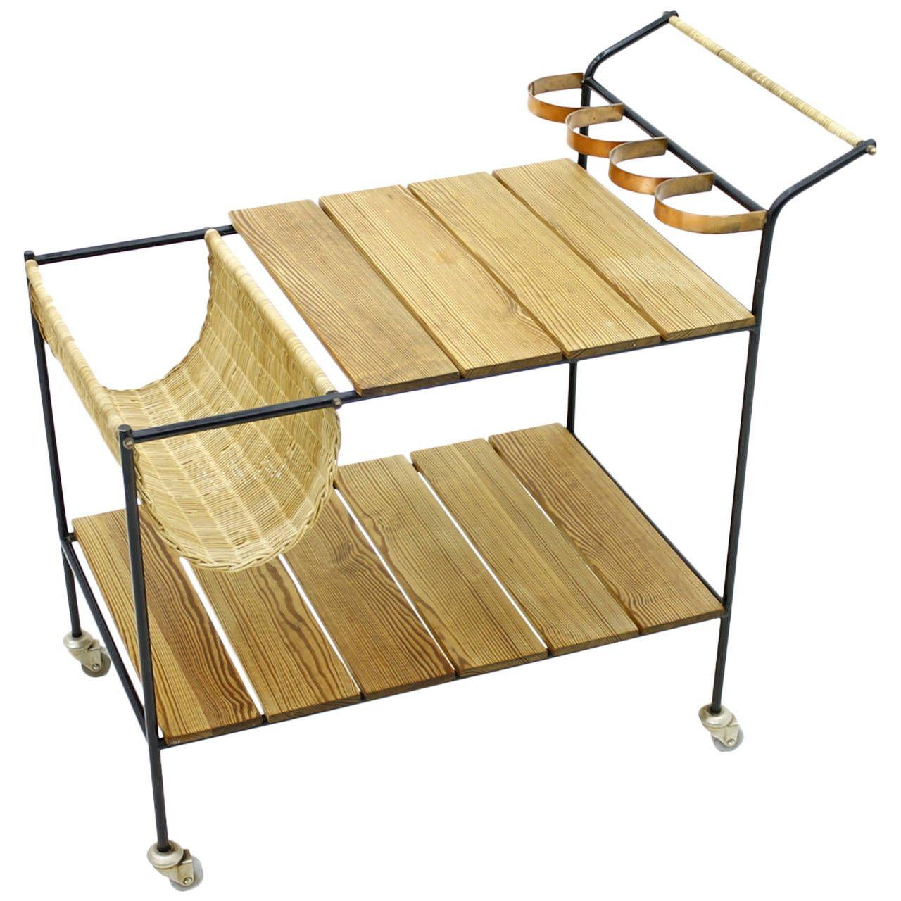 Minimalist Bar Cart In Style Of Arthur Umanoff, Circa 1960s