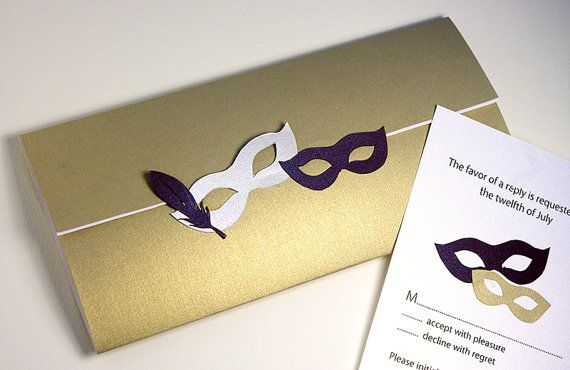 Masquerade Wedding Invitations: Wedding Invitations, Masquerade, Venetian Mask, Birthday